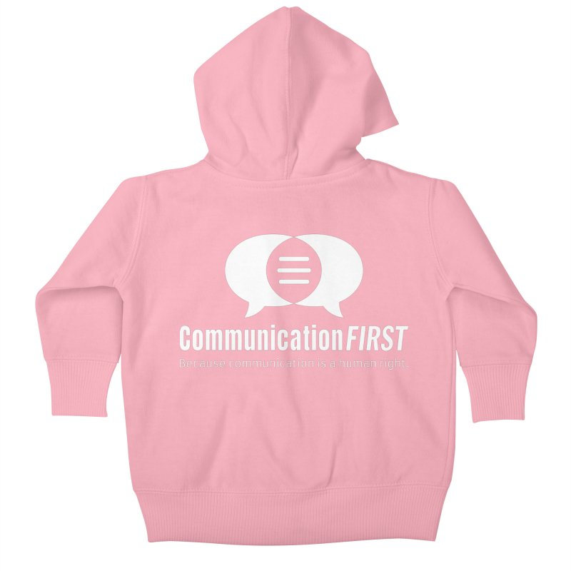 Logo White Kids Baby Zip-Up Hoody by CommunicationFIRST's Artist Shop