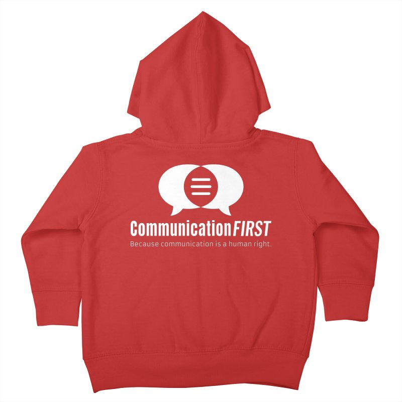 Logo White Kids Toddler Zip-Up Hoody by CommunicationFIRST's Artist Shop