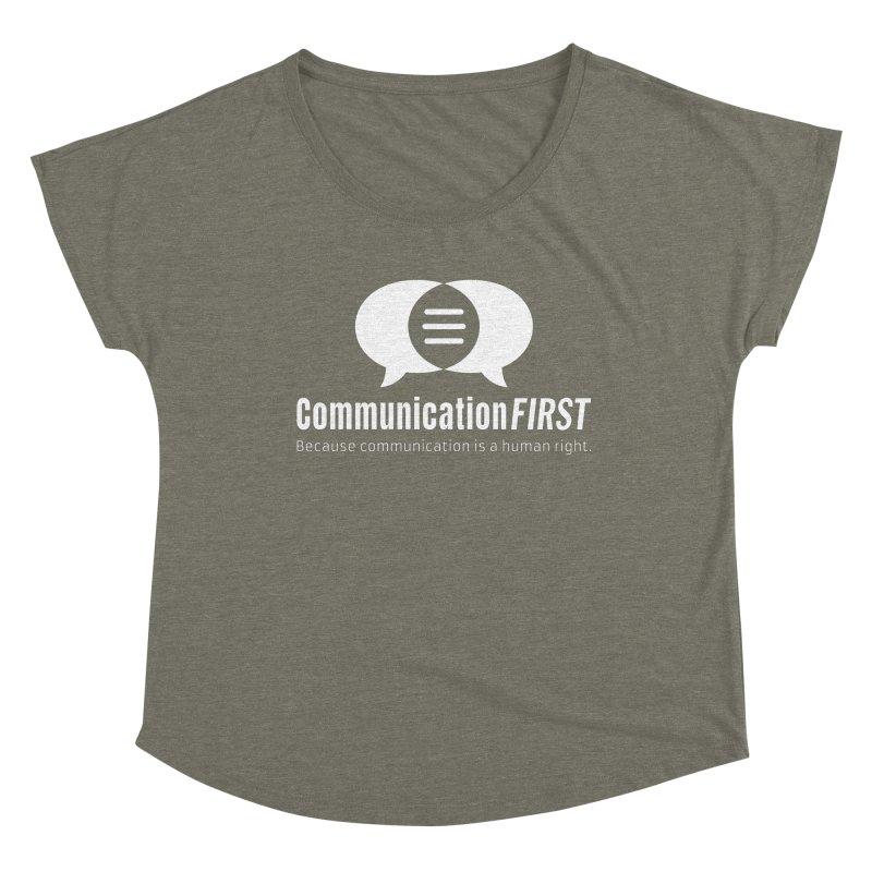 Logo White Women's Scoop Neck by CommunicationFIRST's Artist Shop