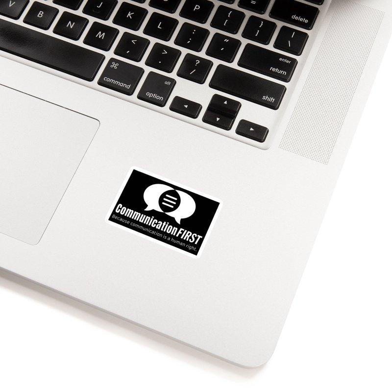 Logo White Accessories Sticker by CommunicationFIRST's Artist Shop