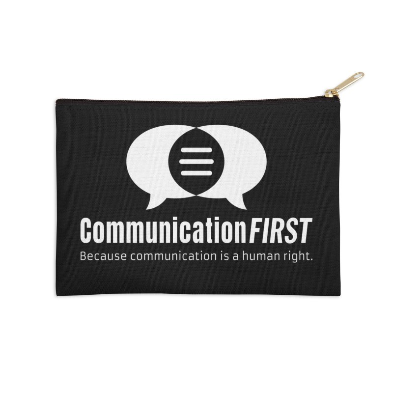 Logo White Accessories Zip Pouch by CommunicationFIRST's Artist Shop