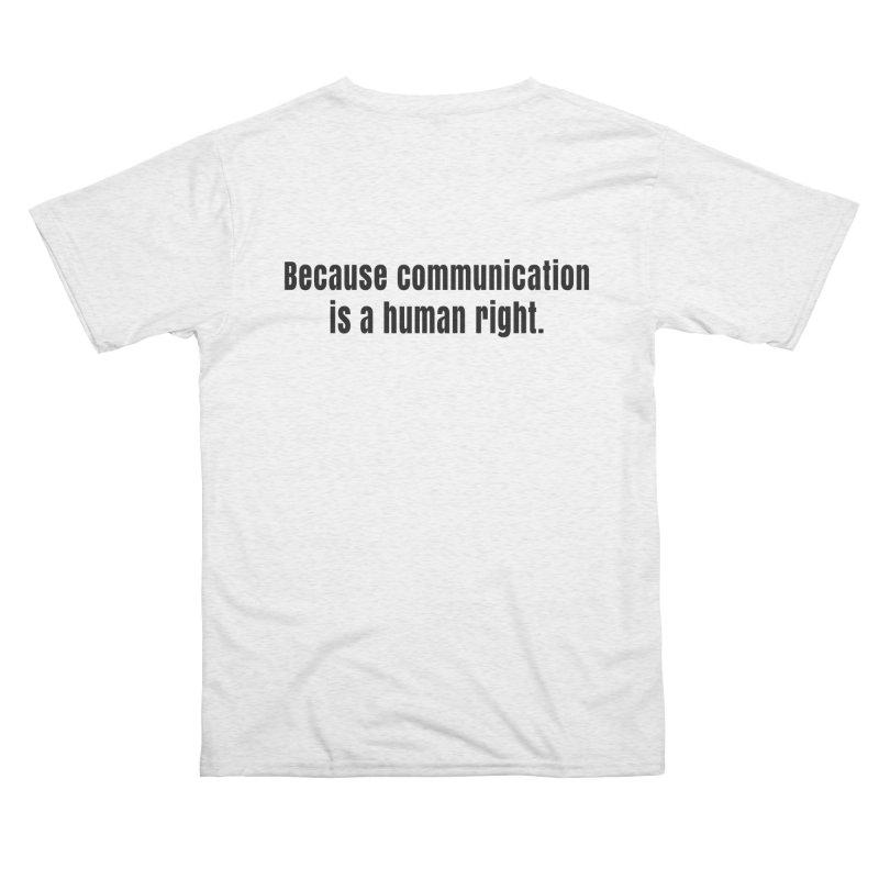 Logo Black Men's Cut & Sew by CommunicationFIRST's Artist Shop