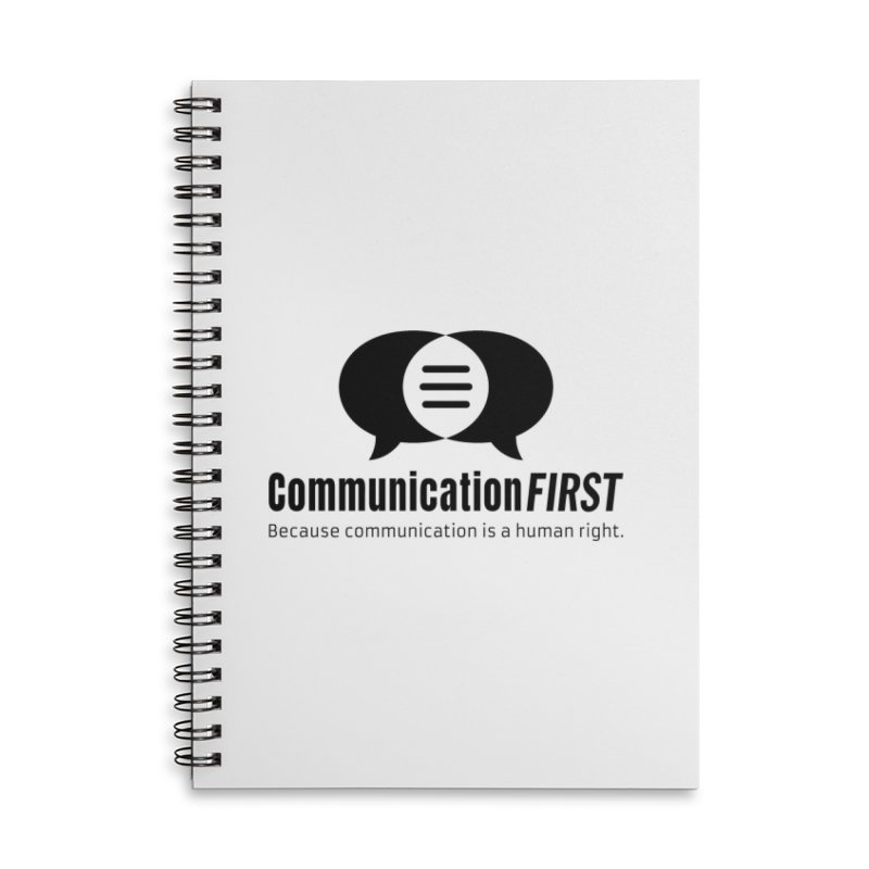 Logo Black Accessories Notebook by CommunicationFIRST's Artist Shop