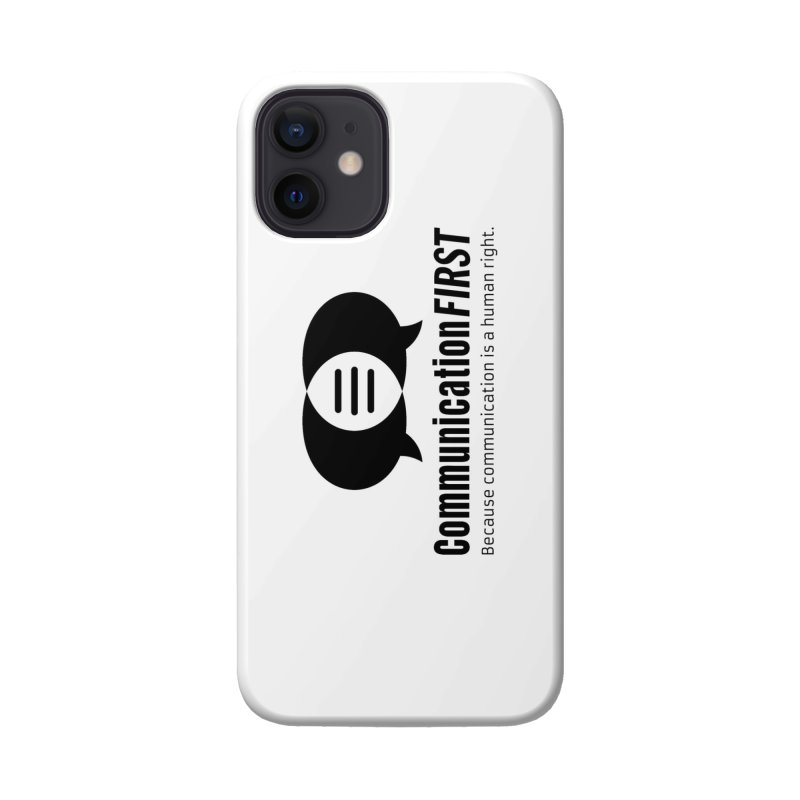 Logo Black Accessories Phone Case by CommunicationFIRST's Artist Shop