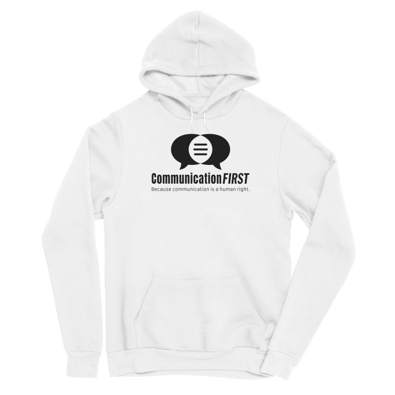 Logo Black Men's Pullover Hoody by CommunicationFIRST's Artist Shop