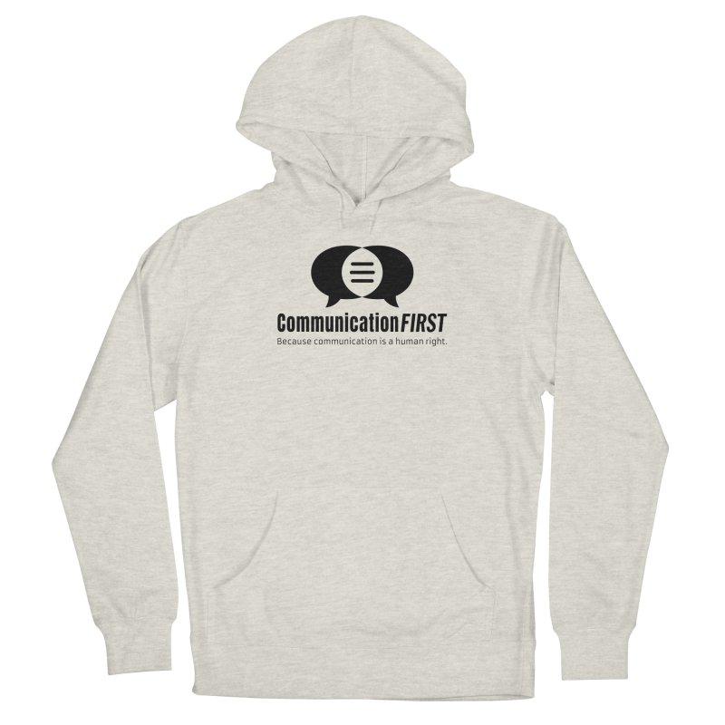 Logo Black Men's Pullover Hoody by CommunicationFIRST's Artist Shop