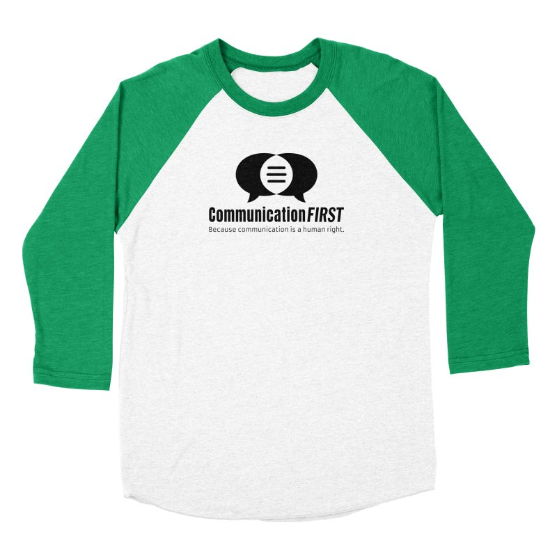 Logo Black Men's Longsleeve T-Shirt by CommunicationFIRST's Artist Shop