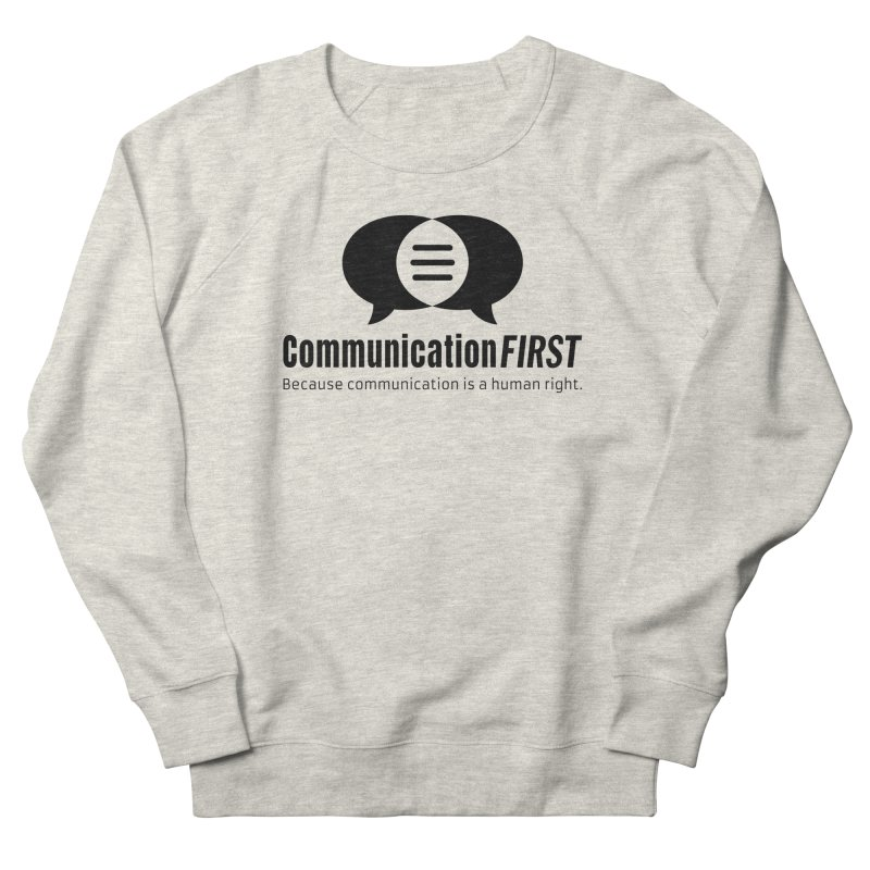 Logo Black Men's Sweatshirt by CommunicationFIRST's Artist Shop