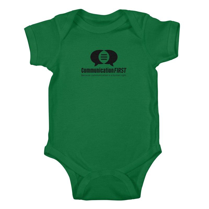 Logo Black Kids Baby Bodysuit by CommunicationFIRST's Artist Shop