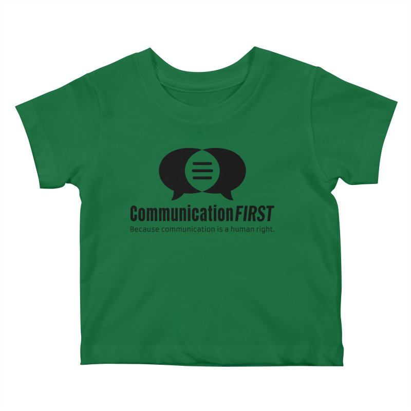 Logo Black Kids Baby T-Shirt by CommunicationFIRST's Artist Shop