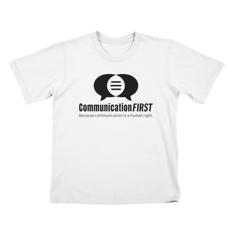 Logo Black Kids T-Shirt by CommunicationFIRST's Artist Shop