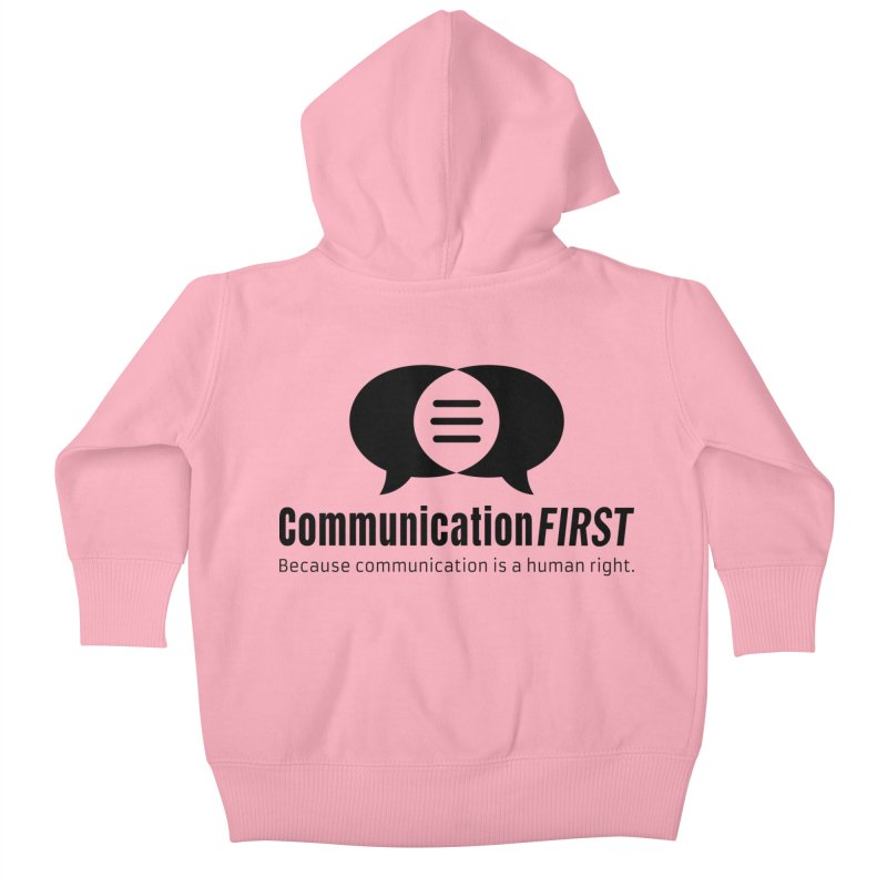 Logo Black Kids Baby Zip-Up Hoody by CommunicationFIRST's Artist Shop
