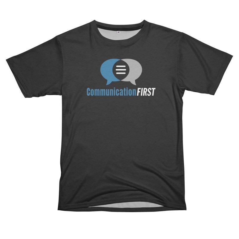Logo Blue on Black Men's Cut & Sew by CommunicationFIRST's Artist Shop