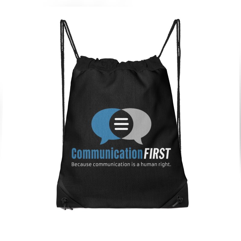 Logo Blue on Black Accessories Bag by CommunicationFIRST's Artist Shop