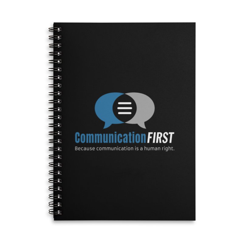 Logo Blue on Black Accessories Notebook by CommunicationFIRST's Artist Shop