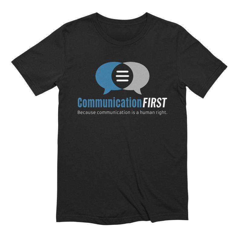 Logo Blue on Black Men's T-Shirt by CommunicationFIRST's Artist Shop