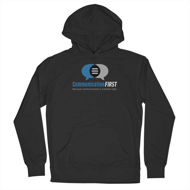 Logo Blue on Black Men's Pullover Hoody by CommunicationFIRST's Artist Shop
