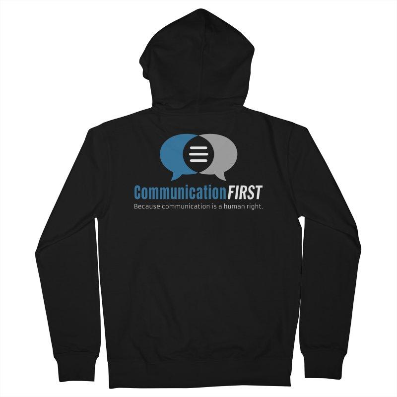 Logo Blue on Black Men's Zip-Up Hoody by CommunicationFIRST's Artist Shop
