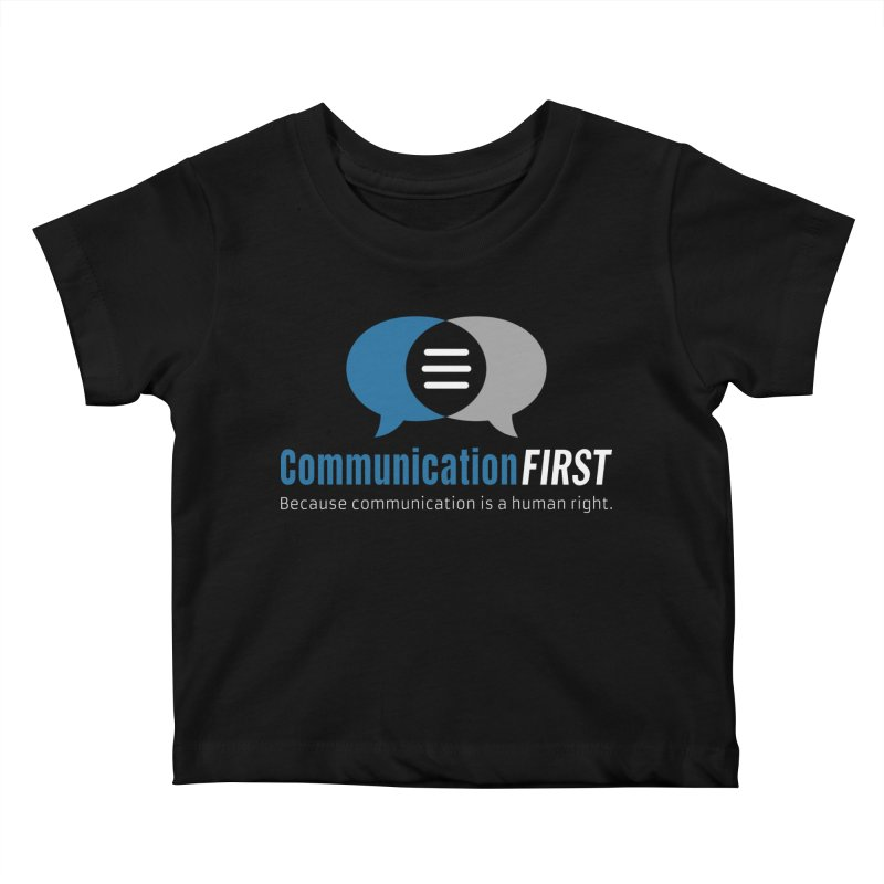 Logo Blue on Black Kids Baby T-Shirt by CommunicationFIRST's Artist Shop