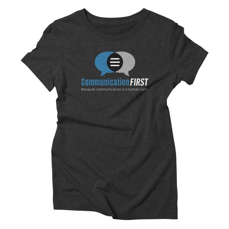 Logo Blue on Black Women's T-Shirt by CommunicationFIRST's Artist Shop