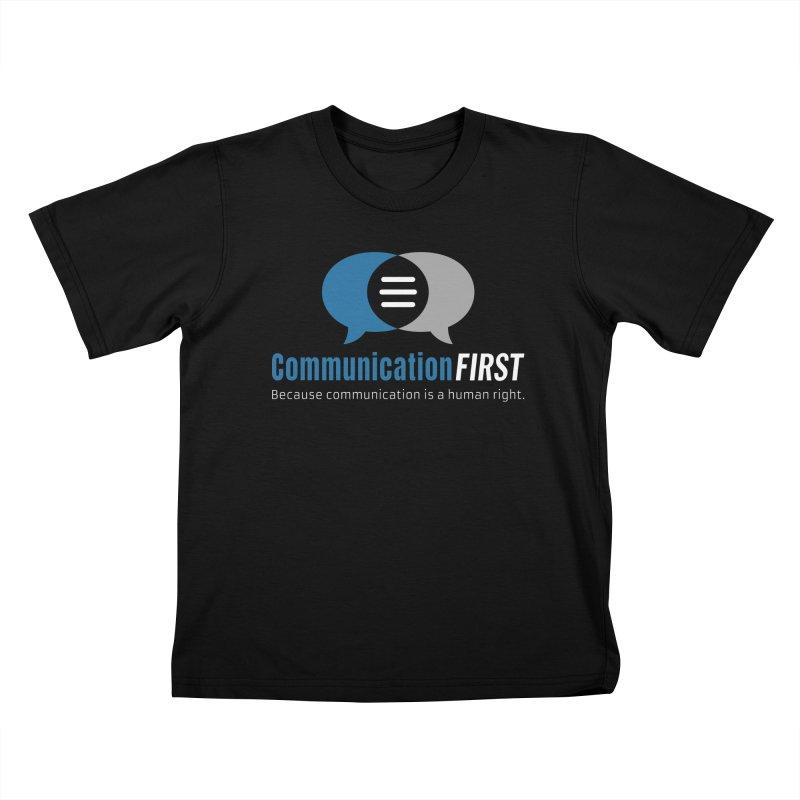 Logo Blue on Black Kids T-Shirt by CommunicationFIRST's Artist Shop