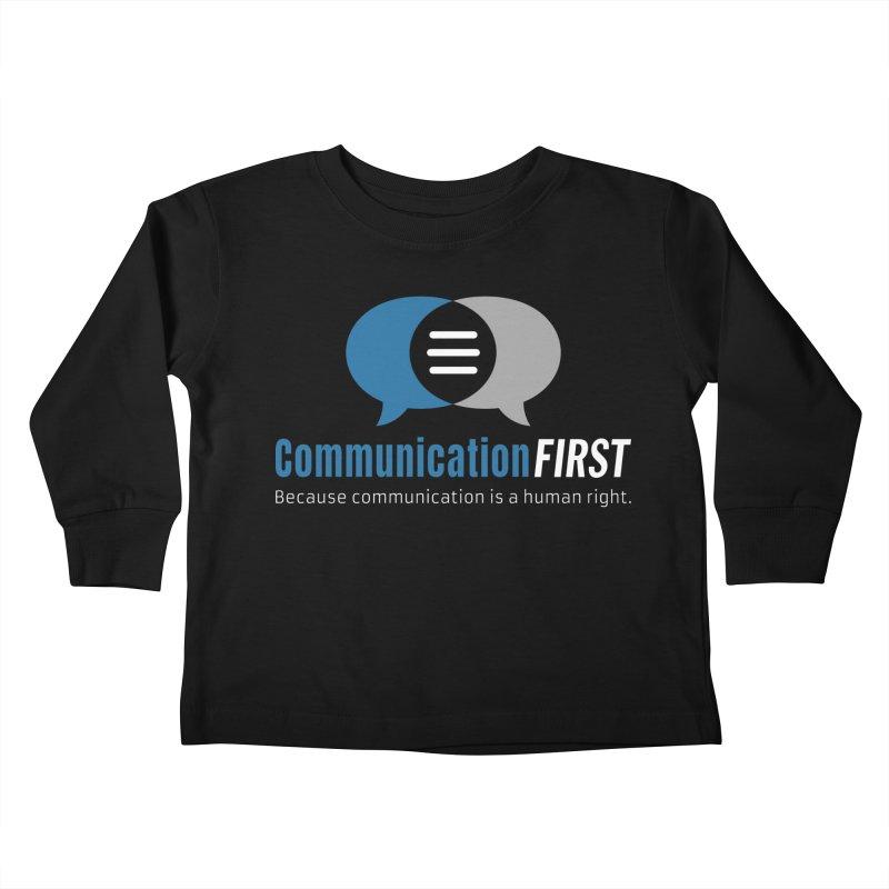 Logo Blue on Black Kids Toddler Longsleeve T-Shirt by CommunicationFIRST's Artist Shop