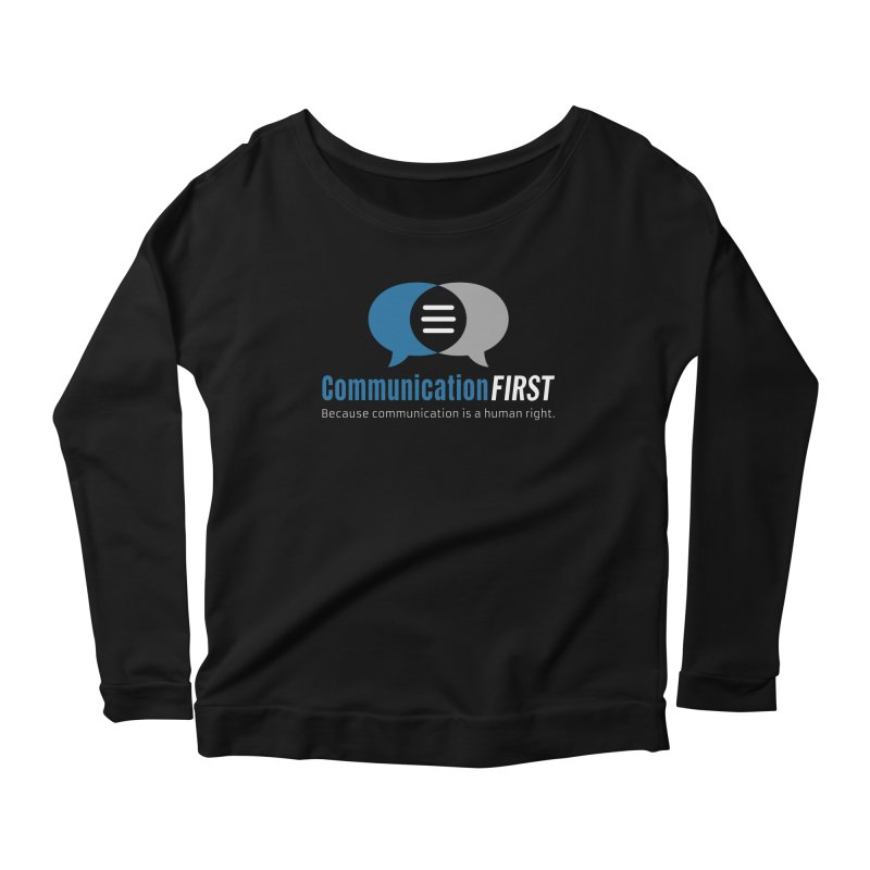 Logo Blue on Black Women's Longsleeve T-Shirt by CommunicationFIRST's Artist Shop