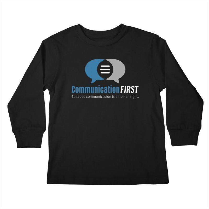 Logo Blue on Black Kids Longsleeve T-Shirt by CommunicationFIRST's Artist Shop