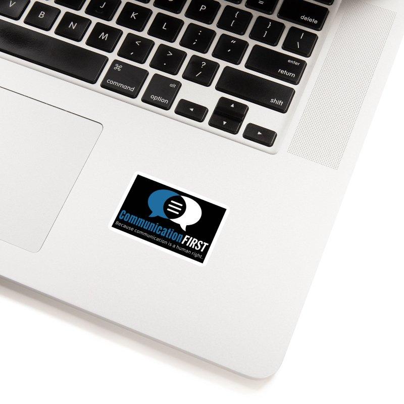 Logo Blue on Black Accessories Sticker by CommunicationFIRST's Artist Shop