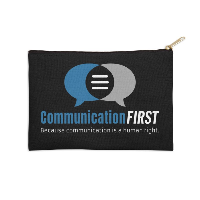 Logo Blue on Black Accessories Zip Pouch by CommunicationFIRST's Artist Shop