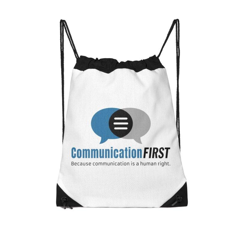 Logo Blue Accessories Bag by CommunicationFIRST's Artist Shop
