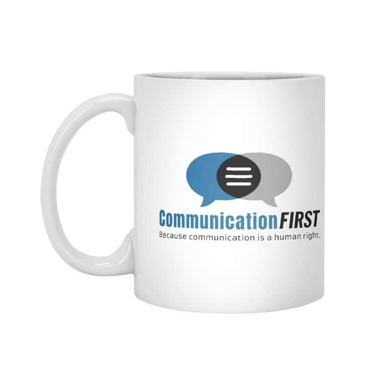 Logo Blue Accessories Mug by CommunicationFIRST's Artist Shop