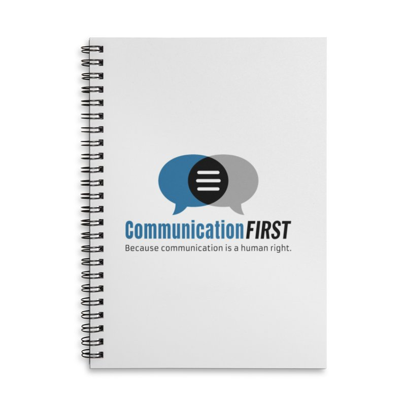 Logo Blue Accessories Notebook by CommunicationFIRST's Artist Shop