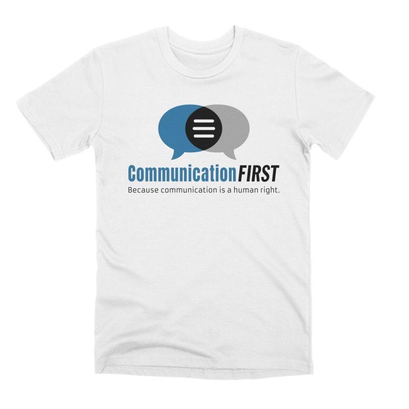 Logo Blue Men's T-Shirt by CommunicationFIRST's Artist Shop