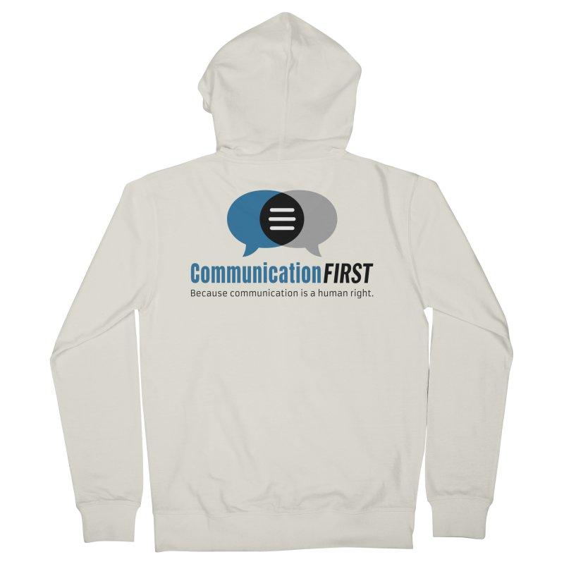 Logo Blue Men's Zip-Up Hoody by CommunicationFIRST's Artist Shop