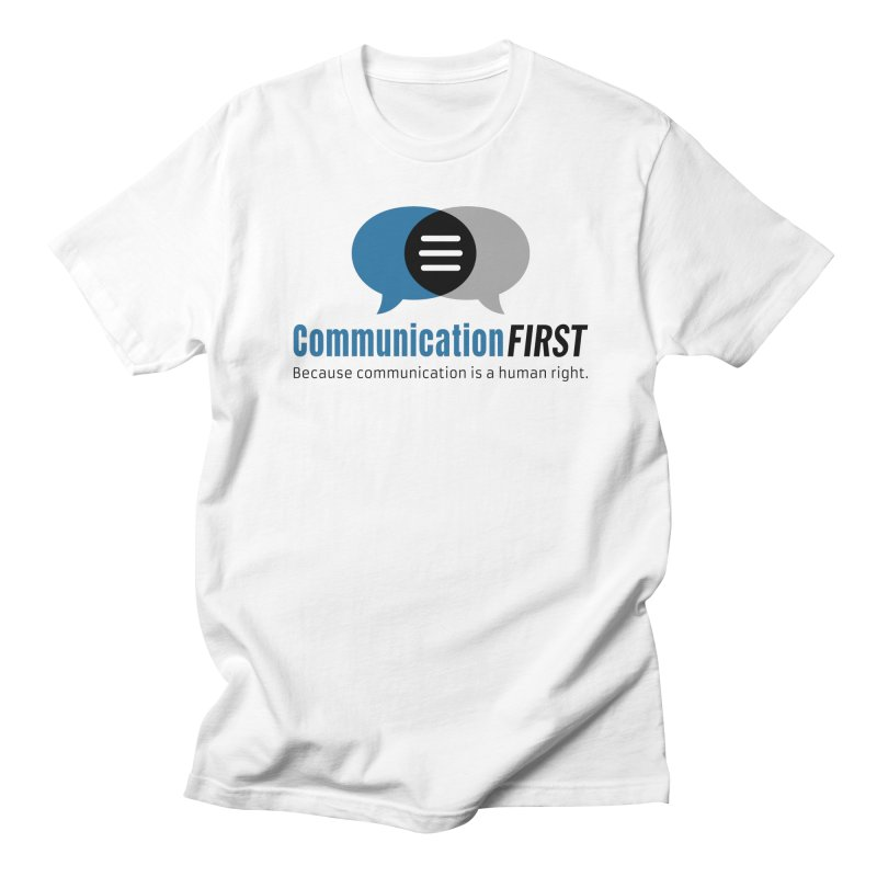 Logo Blue Men's T-Shirt by CommunicationFIRST's Artist Shop