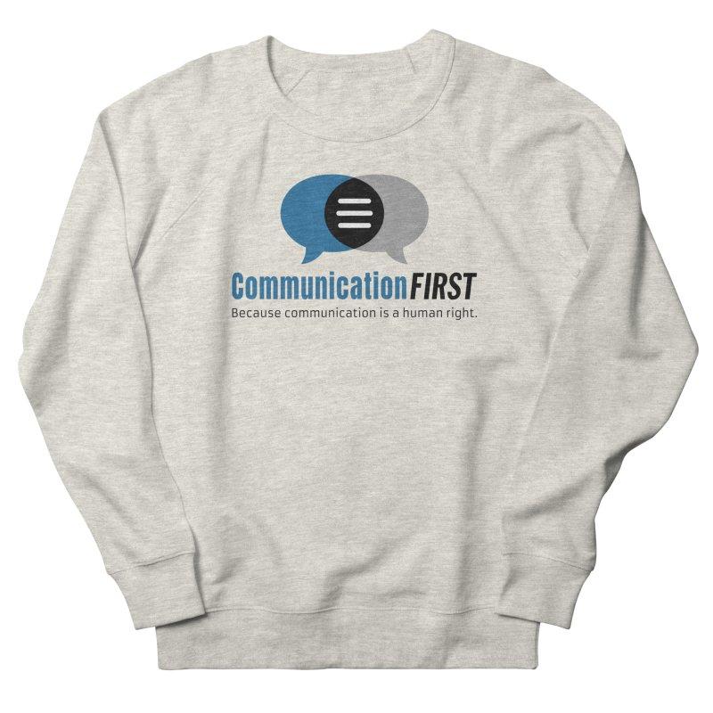 Logo Blue Men's Sweatshirt by CommunicationFIRST's Artist Shop