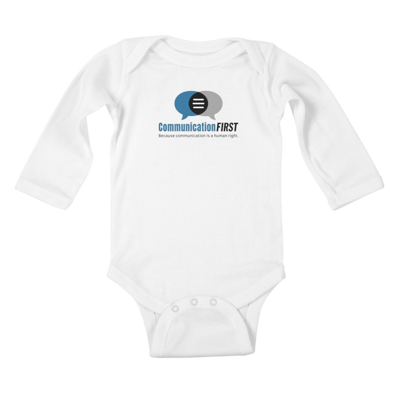 Logo Blue Kids Baby Longsleeve Bodysuit by CommunicationFIRST's Artist Shop