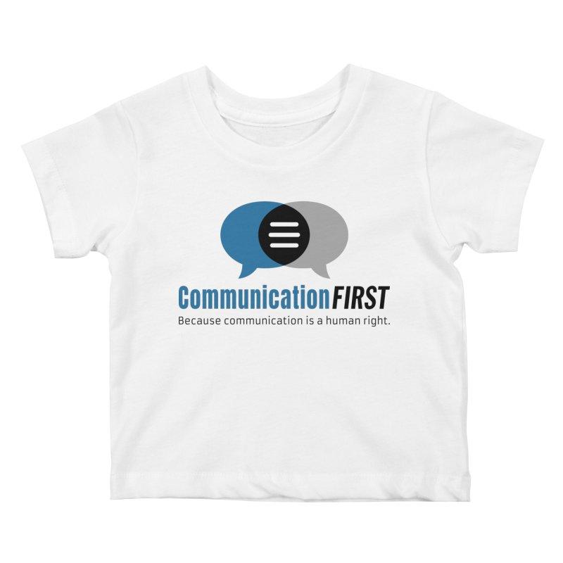 Logo Blue Kids Baby T-Shirt by CommunicationFIRST's Artist Shop