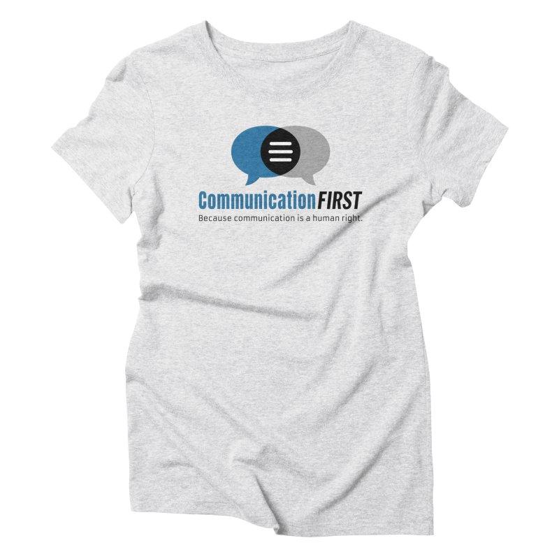 Logo Blue Women's T-Shirt by CommunicationFIRST's Artist Shop
