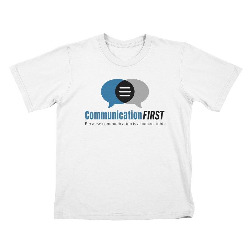 Logo Blue Kids T-Shirt by CommunicationFIRST's Artist Shop