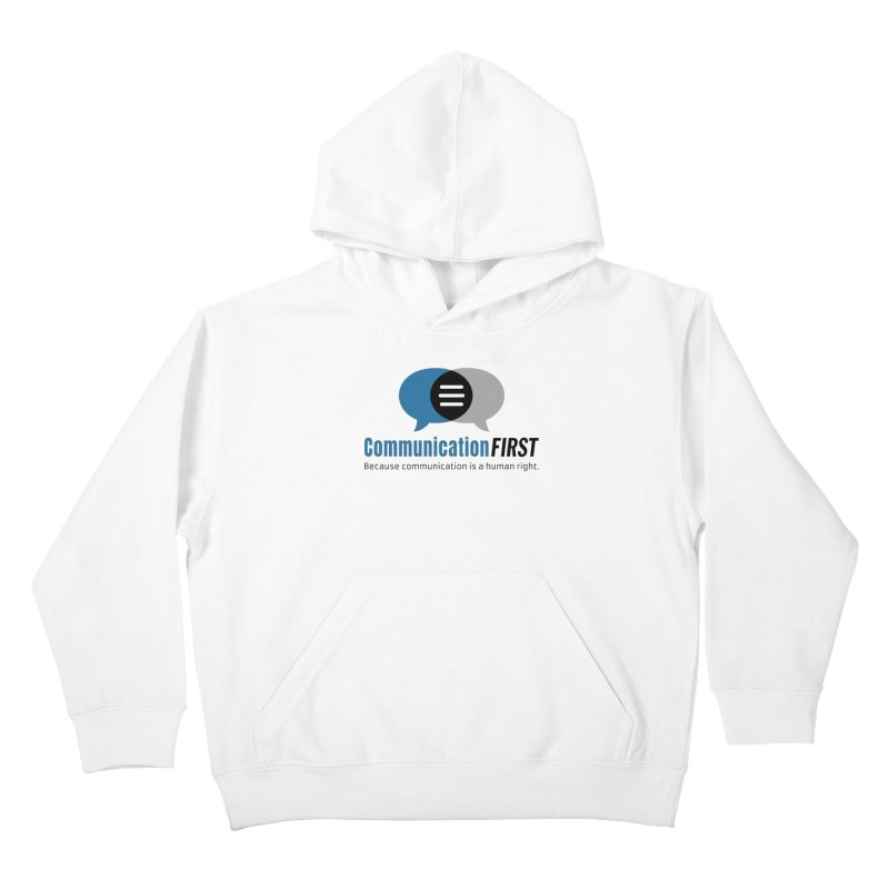 Logo Blue Kids Pullover Hoody by CommunicationFIRST's Artist Shop