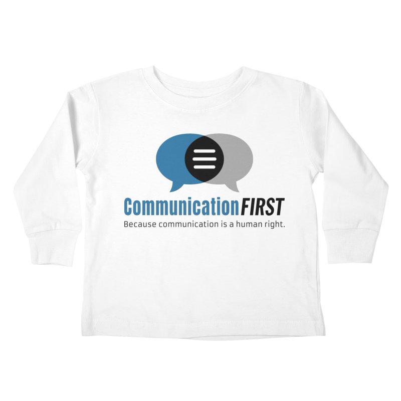 Logo Blue Kids Toddler Longsleeve T-Shirt by CommunicationFIRST's Artist Shop