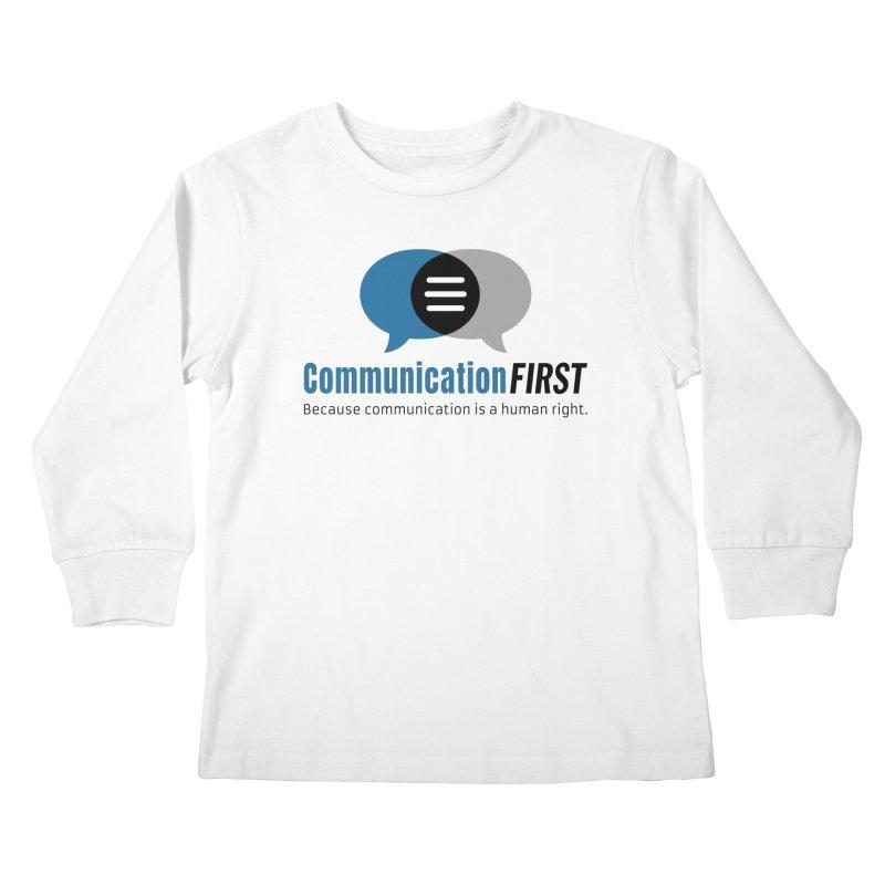 Logo Blue Kids Longsleeve T-Shirt by CommunicationFIRST's Artist Shop