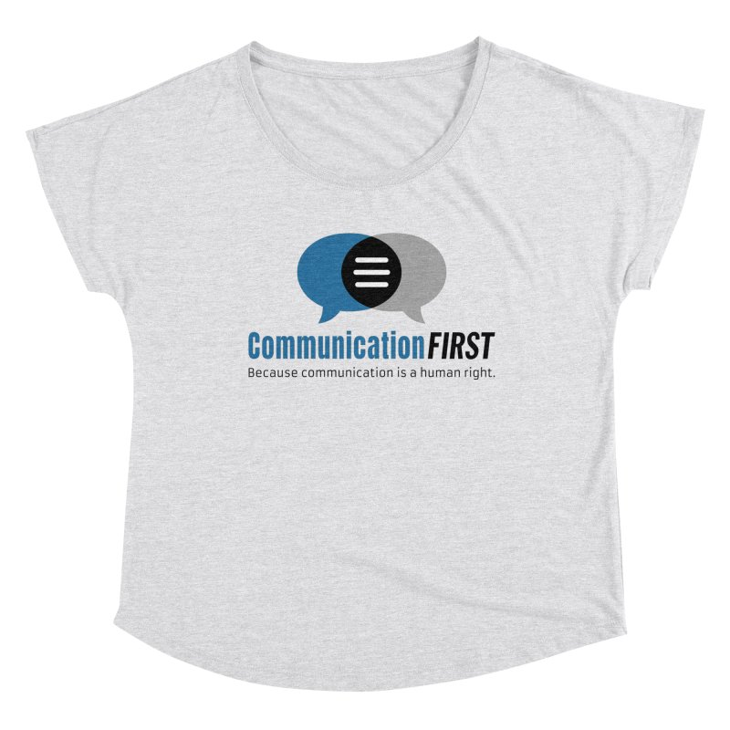 Logo Blue Women's Scoop Neck by CommunicationFIRST's Artist Shop