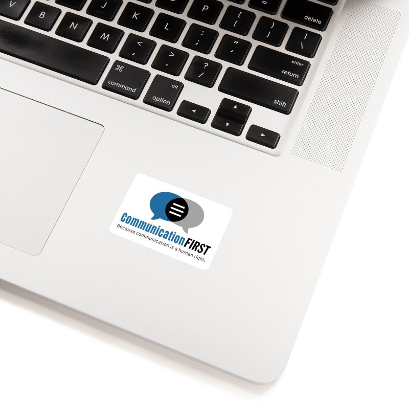 Logo Blue Accessories Sticker by CommunicationFIRST's Artist Shop