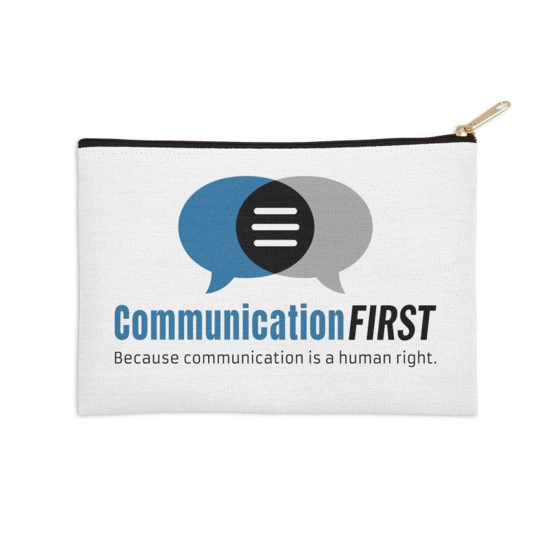 Logo Blue Accessories Zip Pouch by CommunicationFIRST's Artist Shop