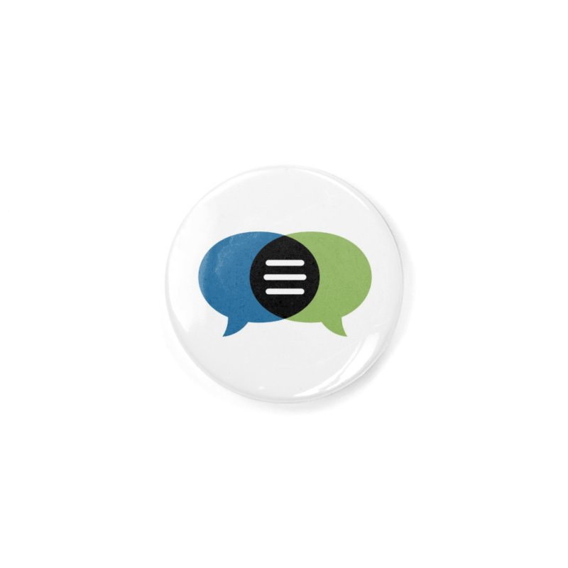 Green-Blue Image Wordless CommunicationFIRST Logo Accessories Button by CommunicationFIRST's Artist Shop