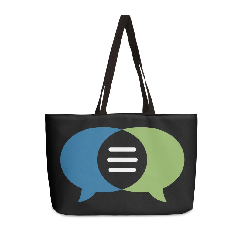 Green-Blue Image Wordless CommunicationFIRST Logo Accessories Bag by CommunicationFIRST's Artist Shop