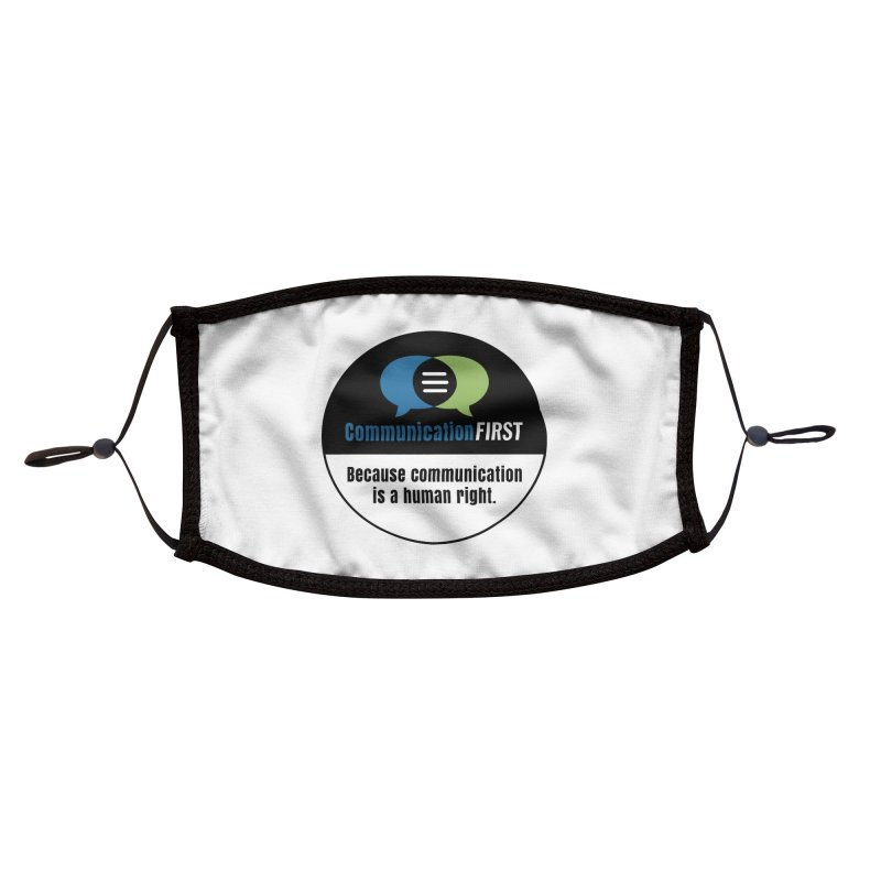 Green-Blue-Black-over-White Round CommunicationFIRST Logo Accessories Face Mask by CommunicationFIRST's Artist Shop